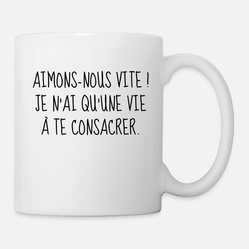 Swag Mugs et gourdes - Amour - Couple - Citation - Humour - Comique - Fun - Mug blanc