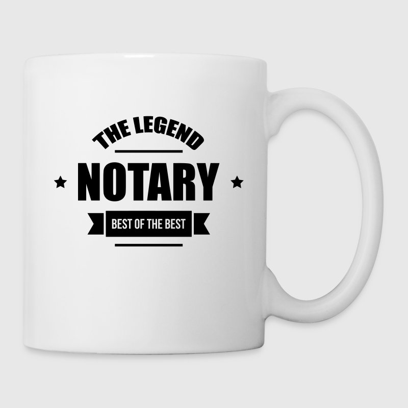 notaire / notariat / justice / droit - Mug blanc