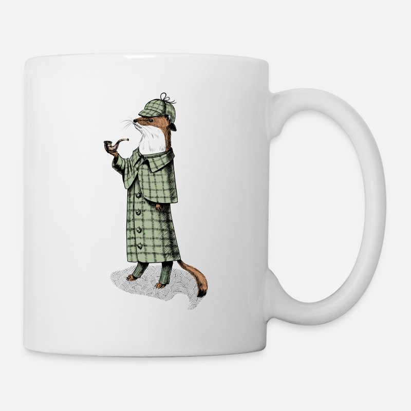 Nice Mugs & Drinkware - Stoat Detective - Mug white