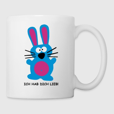 Ich hab dich lieb Hase rabbit Hare Bunny Germany  - Kubek
