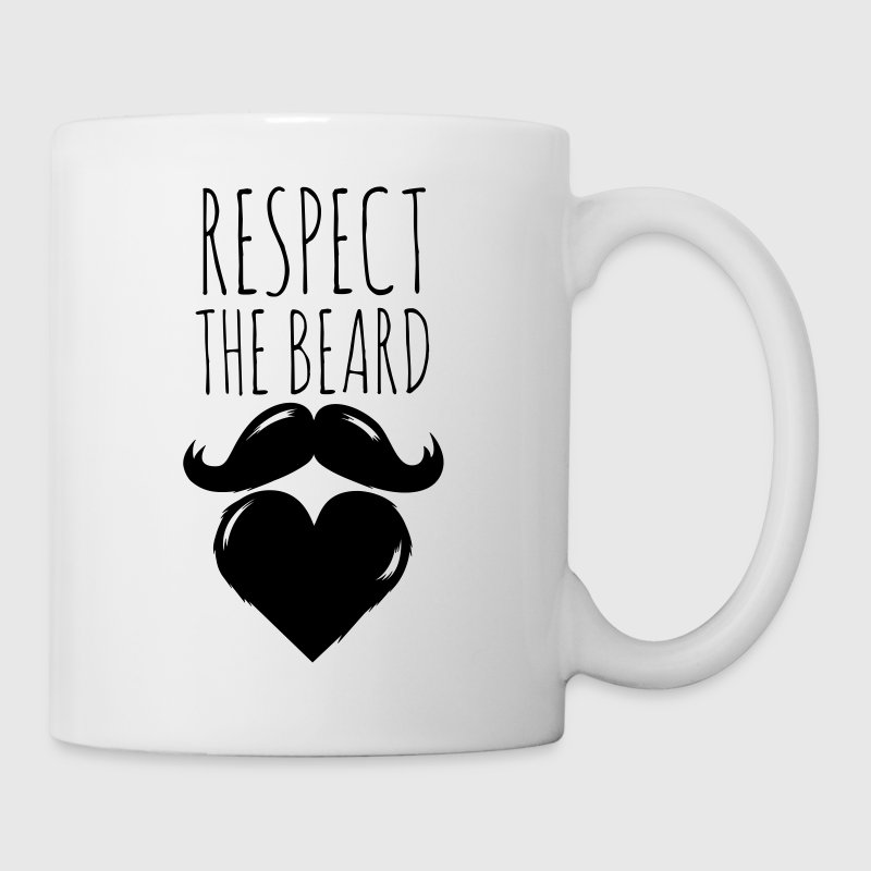 funny I love respect the beard and moustache joke - Mug
