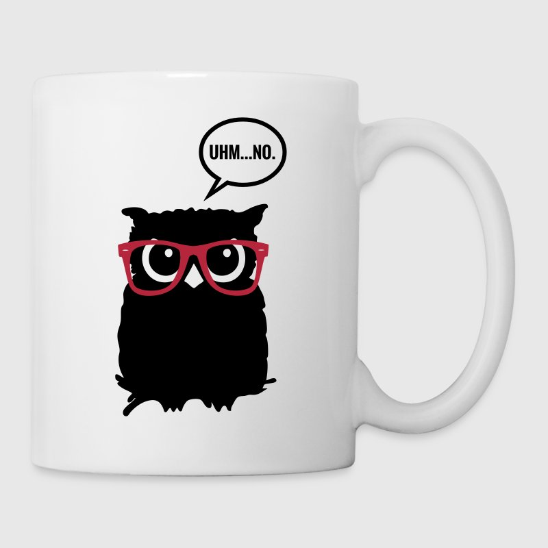 Hipster Eule mit Brille - Hipster Owl with Glasses - Tasse