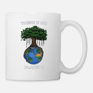 There is no planet b, white lettering - Mug