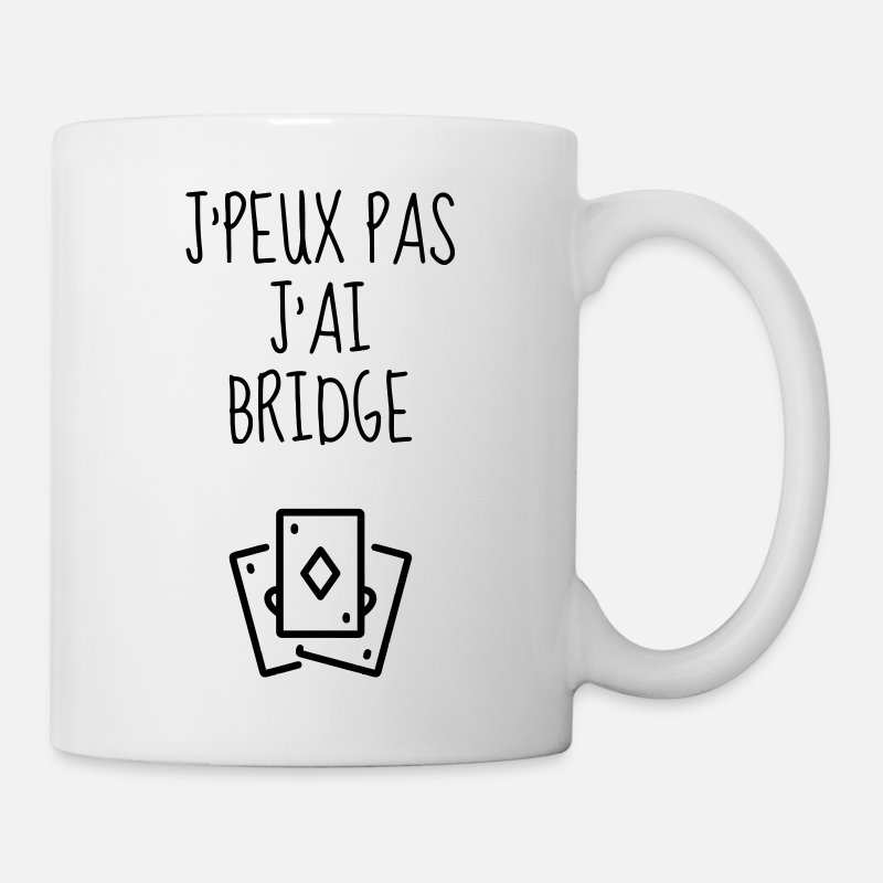 Bridge Mugs et gourdes - bridge / bridgeur / bridgeuse / cartes - Mug blanc