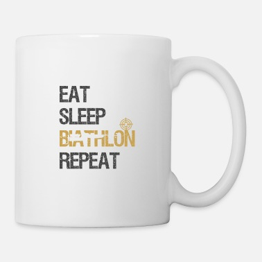Alpi Eat Sleep Biathlon World Cup Ski Shooting Gift - Tazza