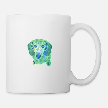 Dackel Big Eyed Sausage Dog Pop Art 5 - Tasse