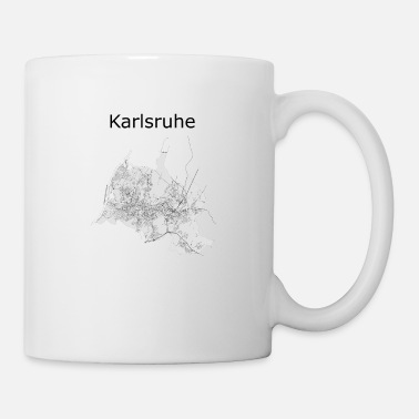 Data stylized road map Karlsruhe - Mug