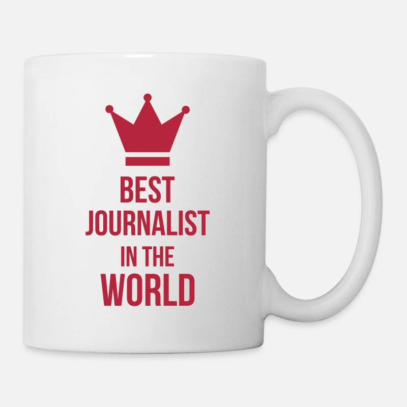 Humour Mugs et récipients - Best Journalist in the world - Mug blanc