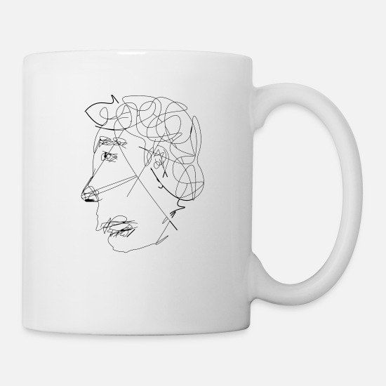 Vibe Mugs & Drinkware - unique scribble emotion - Mug white