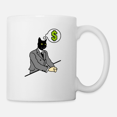 Cravate Chat en costume / chat homme (DDP) - Mug