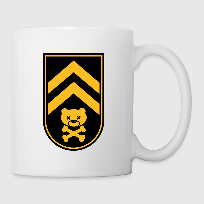 Dead bear sleeve army stripes rank badge emblem vignet with skull and crossed bones t-shirts - Mug