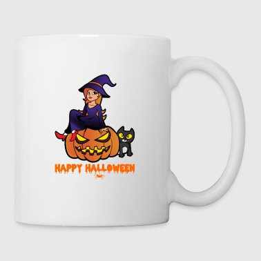 Halloween Witch Cat Pumpkin Monster Zombie Horror - Tazza