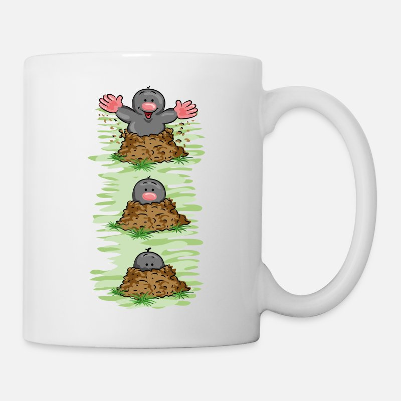 Mole Mugs & Drinkware - Happy Mole - Mug white