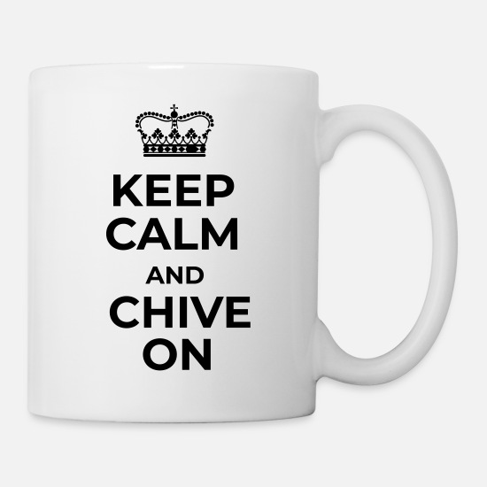 The Chive Mugs & Drinkware - KEEP CALM AND CHIVE ON - Mug white