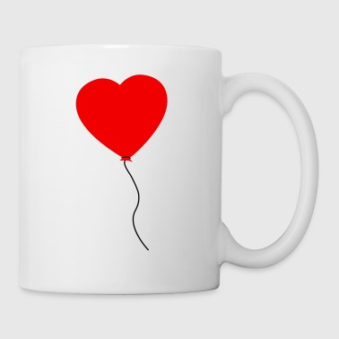 Love Heart Balloon - Taza