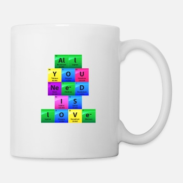 Chemist All You Need Is Love Periodic Table Elements Gift - Mug