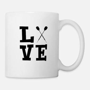 Target Love with darts black - Mug