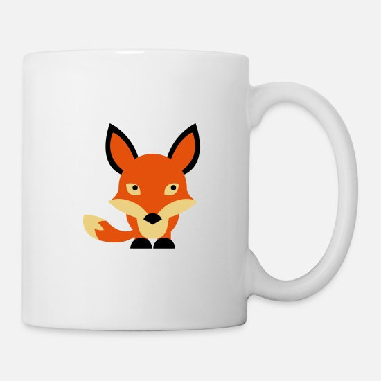 Forest Mugs & Drinkware - A sweet little fox - Mug white