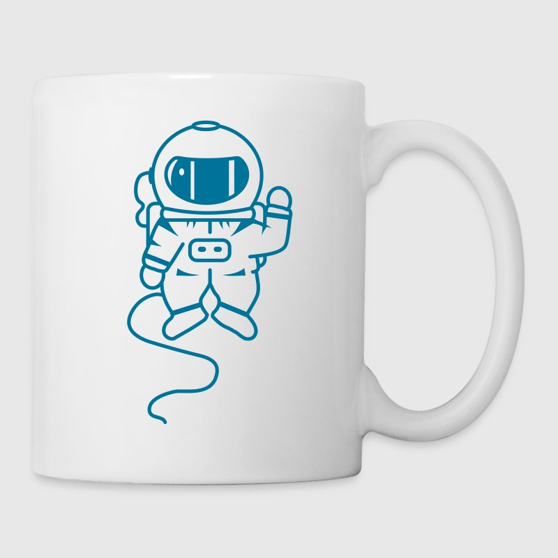 small astronaut in space - Mug