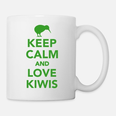 Kiwi Keep calm and love kiwis Tassen & Zubehör - Tasse