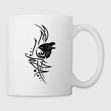 Tribal, tattoo with raven head - Mug