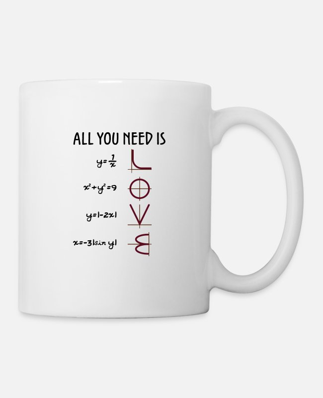 Geometrisch Tassen & Becher - All you need is Love (Equations) Geschenk - Tasse Weiß