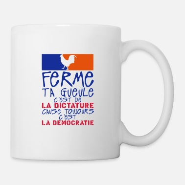 Dictatorship closes mouth dictatorship cause democracy governeme - Mug