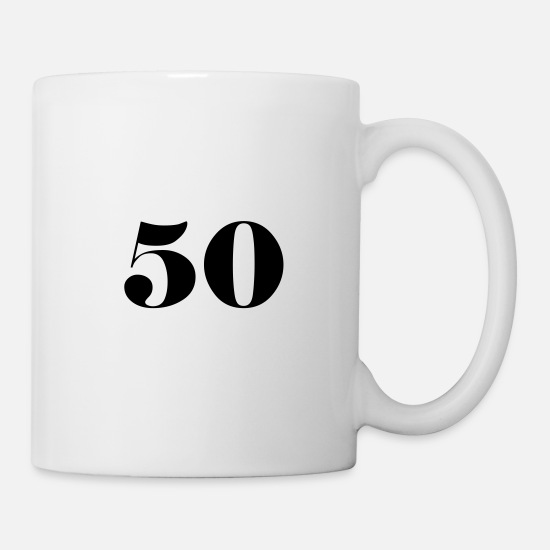 Birthday Mugs & Drinkware - 50 - Mug white