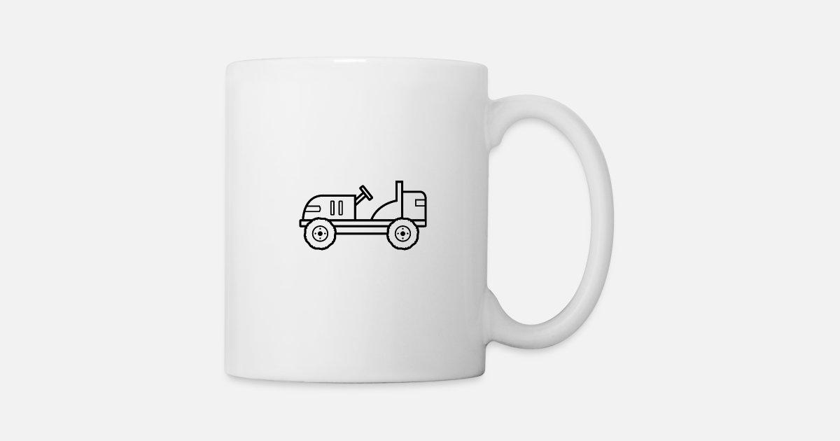 Traktor Zum Ausmalen Und Bemalen Kinder Geschenk Tasse Spreadshirt