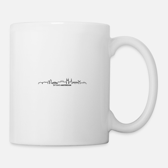 Holland Mugs & Drinkware - Skyline - Amsterdam - Mug white