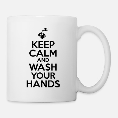 Water Keep Calm And Wash Your Hands - Mug