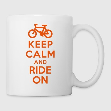 Keep calm and ride on bike Coques pour portable et tablette - Mug blanc