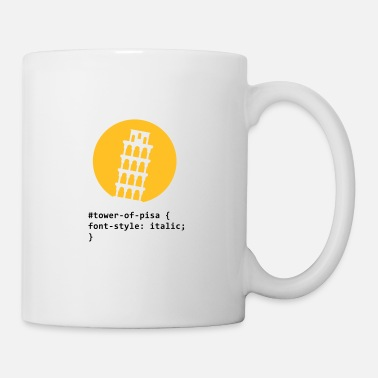 Pun CSS pun: The Tower of Pisa - Mug