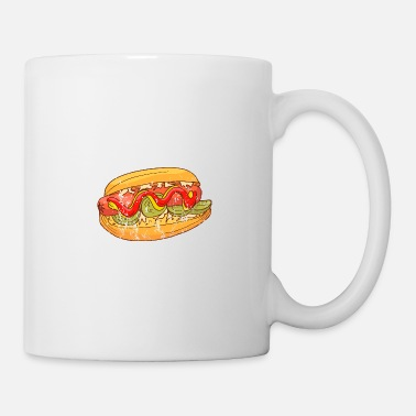 Hambre Retro Vintage Grunge Style Hot Dog - Taza