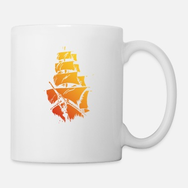 Pirate ship red yellow - Mug