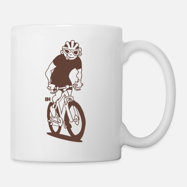 Drawing MTB - A mountain biker on his moutainbike - Mug