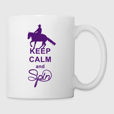 Keep Calm and spin Westernreiter - Tasse