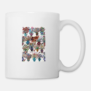 Blue Light flowers flowers 8 - Mug
