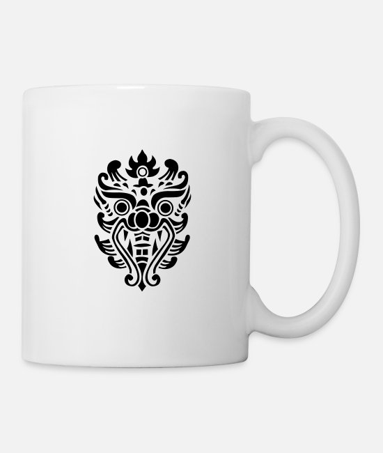 Richard Mugs & Drinkware - Thai dragon head - Mug white