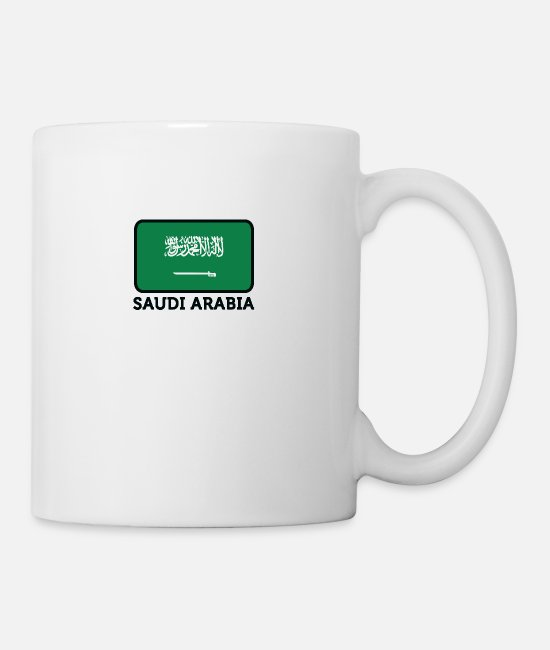 Saudi Arabia Mugs & Drinkware - National Flag Of Saudi Arabia - Mug white