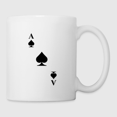 As de pique diagonale - Mug blanc
