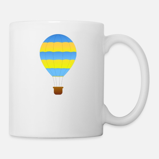 Flight Mugs & Drinkware - airplane airplane plane hot air balloon air ba - Mug white
