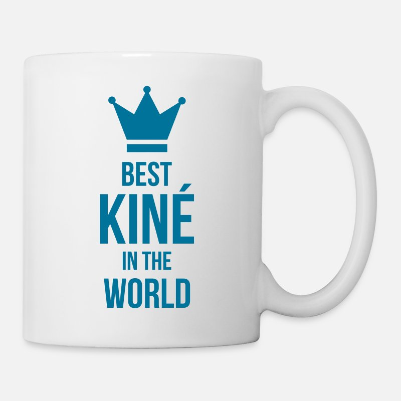 Kinesitherapeute Mugs et gourdes - Best Kiné in the world - Mug blanc