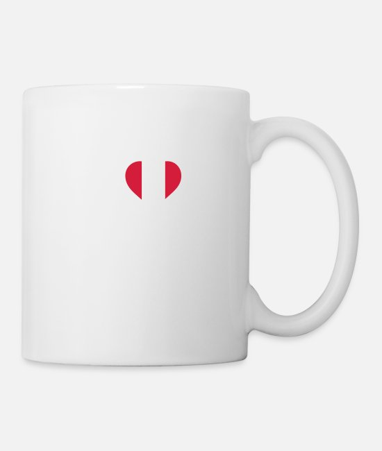 South America Mugs & Drinkware - I Love Peru - Mug white