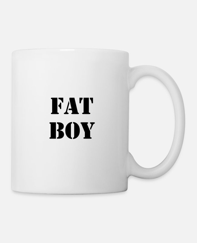 Bullying Mugs & Drinkware - Fat boy - Mug white