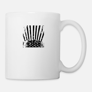 Stars And Stripes Stars Stripes black white - Mug