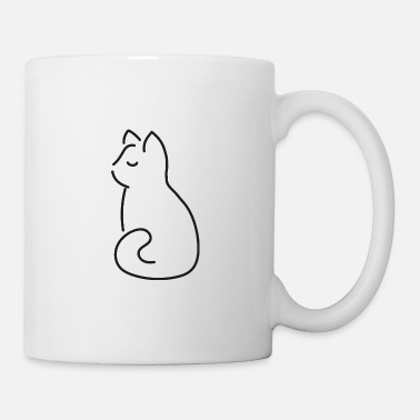 Être Assis Chat doux assis - Mug