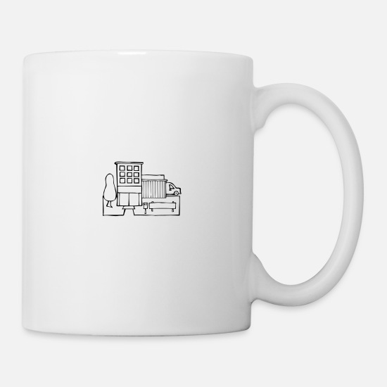 Company Mugs & Drinkware - 007 buildings - company logistics and transport - Mug white