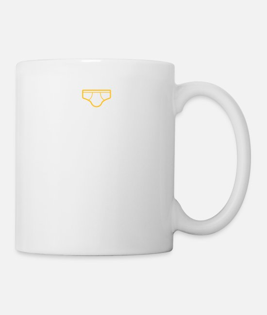 Lazy Mugs & Drinkware - I Only Want To Wear Underwear And A Crown - Mug white