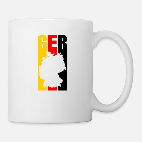 Federal Republic Of Germany Mugs & Drinkware - Germany Flagge Germany Heimat country outline GER - Mug white